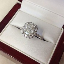 Certified 2.30Ct Cushion Cut Diamond Solitaire Engagement Ring in 14k wh... - $284.72