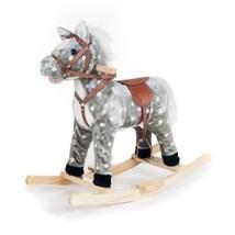 Wood Rocking Horse Soft Plush Wooden Sturdy Toy For Kids Birthday Xmas G... - $53.06