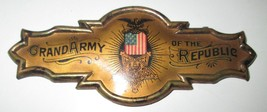 Civil War GRAND ARMY OF THE REPUBLIC Badge Dated Oct 1892,   - $97.23