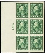 408, Mint Superb NH 1¢ Left Side Plate Block of Six - Stuart Katz - $40.00