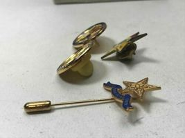 Lot Four Vintage Masonic Order of the Eastern Star Pin Pennsylvania Gold Tone image 3