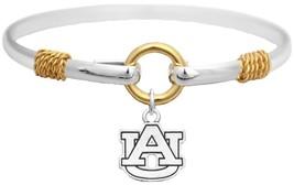 An item in the Sports Mem, Cards & Fan Shop category: Auburn Tigers Two Tone Silver Gold Cuff Bangle Bracelet Charm Jewelry AU
