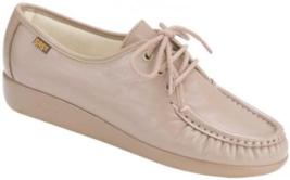 SAS Siesta Size 7 W WIDE EU 37.5 Women's Leather Lace-Up Moccasin Mocha ... - $126.71