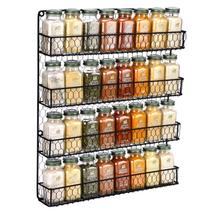 Spice Rack 4 Tier Countertop Kitchen Organizer Storage Wall Mount Holder... - $40.79