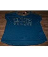 VINTAGE STYLE WOMEN'S TEEN INDIANAPOLIS COLTS BELIEVE NFL T-Shirt LARGE NEW - $19.80