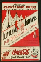 1941 Cleveland Indians Baseball Program v Boston Red Sox Scored - $38.61