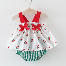 NWT Baby Girls Cherry Tunic Dress & Bloomers Outfit Set - $10.99