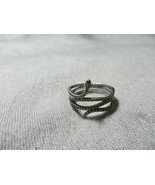 Authentic Pandora CZ. Zircon Silver Swirling Snake Clear Ring Retired si... - $44.99