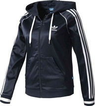 US:8  adidas Women's Slim Fit  FZ HOODIE TRACK JACKET  BJ8328  BLUE  S/M... - $159.88
