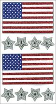 Jolee's Seasonal Stickers-Glitter Flags and Stars - $8.56