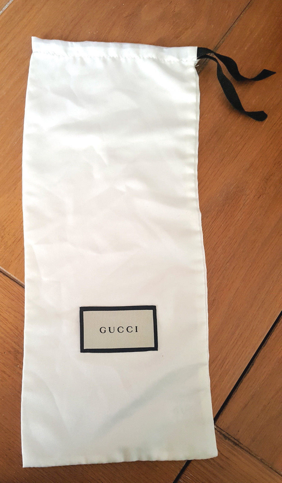 """GUCCI Dust Bag Silky White 15.25"""" X 6.5"""" Wallet.Shoe,Slim Purse, Other"""