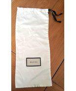 "GUCCI Dust Bag Silky White 15.25"" X 6.5"" Wallet.Shoe,Slim Purse, Other - $25.00"