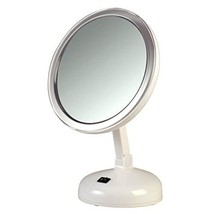 Floxite 10X Magnifying LED Lighted Vanity Mirror with 2 Light Settings - $46.99