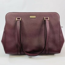 Kate Spade Reese Laurel Way Dark Purple Plum Leather Satchel handbag Pur... - $99.95 CAD