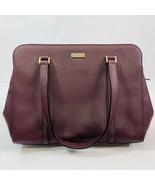 Kate Spade Reese Laurel Way Dark Purple Plum Leather Satchel handbag Pur... - $75.23
