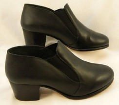 Capezio CG08 Black Adult Size 6.5 Medium Leather Slip-On Character Shoe - $29.99