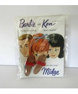 RARE 1962 JAPAN SEALED BARBIE MIDGE KEN FASHION BOOKLET WITH KEN SANDALS... - $49.45
