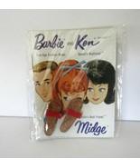 RARE 1962 JAPAN SEALED BARBIE MIDGE KEN FASHION BOOKLET WITH KEN SANDALS... - $49.45