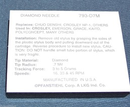 Innovative Technology ITRRS-300 REPLACEMENT PHONOGRAPH RECORD PLAYER NEEDLE image 2