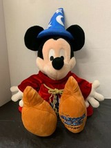 "Disney Mickey Mouse Milestone 26"" Plush Fantasia SORCERER'S APPRENTICE - $18.49"