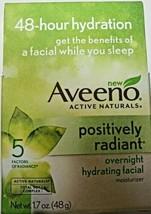Aveeno Positively Radiant Overnight Hydrating Facial Moisturizer 1.7 oz - New - $11.29