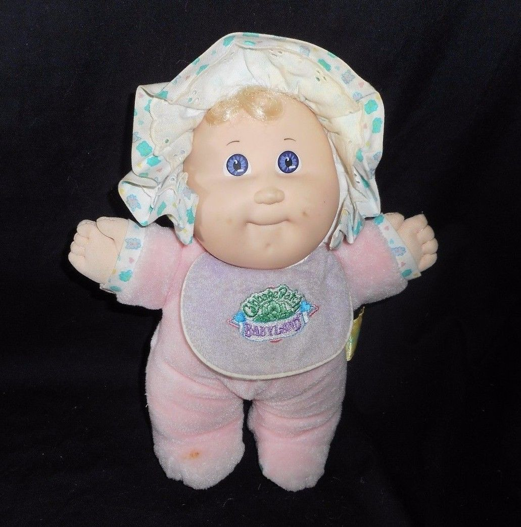 Primary image for VINTAGE 1987 CABBAGE PATCH KIDS BABYLAND GIRL RATTLE STUFFED ANIMAL PLUSH DOLL