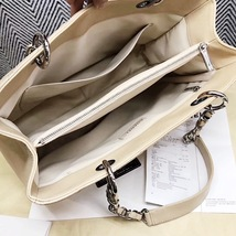 AUTHENTIC CHANEL QUILTED CAVIAR GST GRAND SHOPPING TOTE BAG BEIGE SHW RECEIPT  image 3