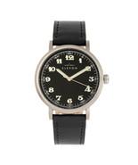 Elevon Felix Leather-Band Watch - Silver/Black - $250.00