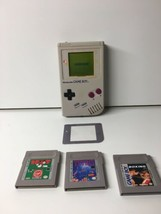 DMG-01 Vintage Nintendo Game Boy Gray + 3 Game Including Tetris Tested A... - $49.49