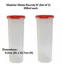 Tupperware Modular Mates Round IV (Set of 2) Re... - $32.99