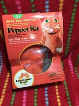 Make Your Own CAT PUPPET KIT  Folkmanis Puppets Orange Cat Puppet Kit - $13.00