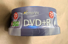 NEW Memorex Blank Recordable DVD+R 16x 4.7GB 120min Video 25 Pack Spindl... - $7.91