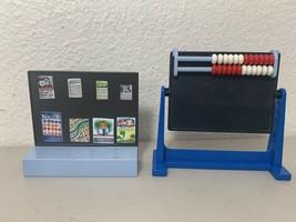 Dollhouse  School Classroom teacher chair abacus chalk  PLAYMOBIL 25+ piece Lot  - $32.40