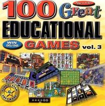100 Great Education Games 3 - PC [Windows 98] - $19.79