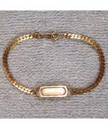 Avon ID Bracelet Herringbone Chain Engravable Gleaming Gold Tone NEW w/o... - $19.75