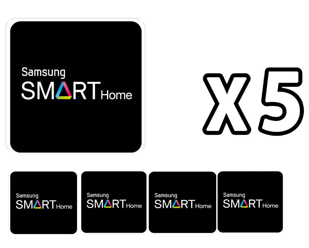 Samsung Door Locks RFID Cards SHS-AKT300 Smart Tag Key Sticker 5-Set Black NEW