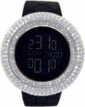 New Men's King Master Cz Full Case Custom Bezel Case Two Time Zone Watch - $148.49