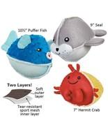 Aquadudes Dog Toy Ocean Friends Choose Creature or Set of Pufferfish Sea... - $12.76+