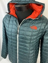 The North Face Jacket Lightweight Puffer Hood Men's Small TNF Ski Full Zip - $89.99