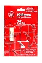 2 Ge Halogen 50 Watt Type T Light Bulbs 993760 - $9.02