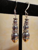 Sophisticated Earrings Swarovski Triple Pearl P... - $24.99