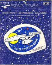 Star Trek TMP Instant Stained Glass Transfer U.S.S. Enterprise 1979 NEW ... - $6.89