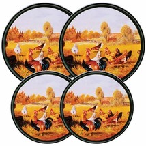 Reston Lloyd Electric Stove Burner Covers, Set of 4, Rooster Pattern - $9.52