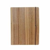 Prow Natural Wood Veneer Cover Elastic Strap Notebook/Writing Journal, R... - $31.11