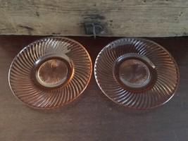 Lot #1 / Federal Glass Diana Pink Saucer Set of 2 - $24.99