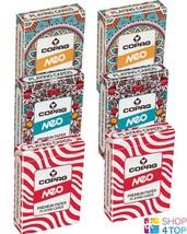 6 DECKS COPAG NEO JUMBO POKER CARDS PAPER 2 MANDALA 2 NATURE 2 STRIPE NEW - $39.69