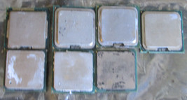 7 Mixed Lot Pentium Desktop Processors Cpu's Pulled Working For USE/GOLD Recover - $22.44