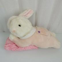 Goffa Stuffed Plush Easter Bunny Rabbit Pink Lying Laying Pillow Sleepy - $79.19
