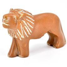 Hand Carved Soapstone Orange Tawny Lion Figurine Made in Kenya image 3