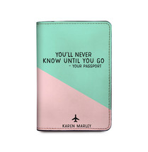 You'll Never Know Until You Go - Personalized Leather Passport Holder - Personal